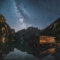 Summer Nights in Braies by fpenta  landscape night italy dolomites milky way braies Summer Nights in Braies fpenta