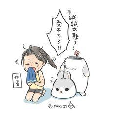 黏答答的受不了 #ㄇㄚˊ幾 #イラスト#イラストレーター #うさぎ #YUKIJI#うさぎ#rabbit #illustrator #illustration by machiko324