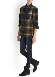 Milane linen blend plaid shirt - Women