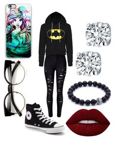 """Untitled #263"" by robandshannon ❤ liked on Polyvore featuring Converse, Lime Crime and Samsung"