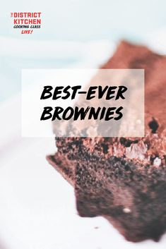 Looking for the best ever brownie recipe? Learn how to create this incredibly decadent (and easy!) treat. Best Brownie Recipe, Brownie Recipes, Best Ever Brownies, Cooking Classes, The Best, Treats, Easy, Desserts, Food