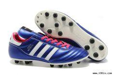 sports shoes a91ed eae45 Cheap 2014 Brazil World Cup Adidas Copa Mundial FG Deep Blue Black White  Football Boots White