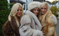 lesbians in fur coats Black Fur Coat, Fox Fur Coat, White Fur, Fur Coats, Fur Fashion, Winter Fashion, Fashion Models, Fabulous Fox, Furry Girls