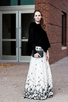 Falling Blooms Maxi Skirt available at Mode-sty
