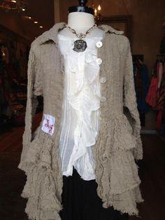 Льняная одежда  в  стиле бохо от Olen Pia Erlund