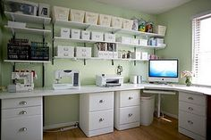 Computer and printer in the sewing room??? Too cool!