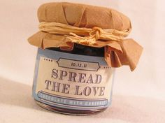 Spread the Love Retro jam favors DaSweetZpot ~ Create your own favors at DaSweetZpot.com ~ DIY ideas for your wedding day