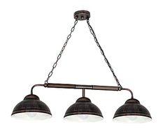 Lámpara de techo de metal y madera Glenn - wengué