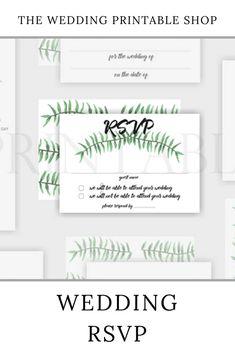 Botanical Wedding RSVP Printable | digital download | digital product | DIY wedding | green botanical | botanical print | engaged | DIY bride | Etsy | printable RSVP Wedding Rsvp, Diy Wedding, Wedding Day, Stationery Design, Wedding Stationery, Wedding Printable, Botanical Wedding, Botanical Prints, Your Design