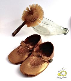 d3a3932b84a Handmade soft sole leather Mary Jane baby shoes. by Huggabies Flower Girl  Shoes