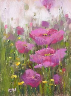 Mini Demo: Pink Poppy Pastel Painting