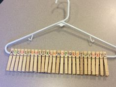 TEACCH clothespins and hanger oh the options....