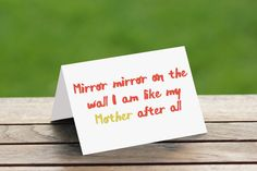 Cute gift for mom  Funny Birthday Card For Mom