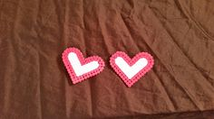 Heart Perler Bead Hair Barrette by knitcreations86 on Etsy