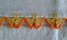"""◇ ◆ ◇ ☆ Tecidos e Croche = Pano de Prato ☆  -  /  ◇ ◆ ◇ ☆ Fabric & Croche = dish cloth ☆ - [   """"Butterfly edging; ◇ ◆ ◇ ☆ Tecidos e Croche = Pano de Prato ☆ - / ◇ ◆ ◇ ☆ Fabric & Croche = dish cloth ☆ -"""",   """"Ro Jk ☆ Meus Crochês = Pano de Copa, hand towel. ☆"""" ] #<br/> # #Dishes,<br/> # #Lace,<br/> # #Crochet #Edgings,<br/> # #Butterflies,<br/> # #Fabrics,<br/> # #Cloths,<br/> # #Crochet,<br/> # #Tissues,<br/> # #Crafts<br/>"""