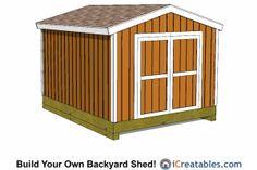 10x12 Backyard Gable Shed Plans