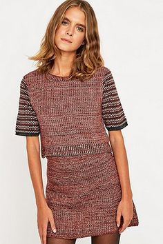 Urban Outfitters Knitted Co-Ord Tee