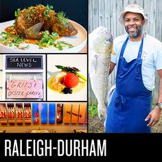 Check out our guide to Raleigh, Durham and Chapel Hill, NC's most exciting bars, restaurants and shops. Read more! Durham, Cities In North Carolina, Lake Lure, Food Spot, American Restaurant, Tasting Table, Chapel Hill, Foodie Travel, Vacation Places