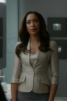 A non-matching pencil skirt and blazer are another option for business professional.