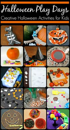 Collection of open-ended, creative, and fun Halloween activities for the kids!