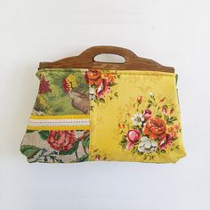 ZStitch, Vintage inspired handmade handbags in Woodstock Retro Fabric, Handmade Handbags, Fabric Bags, Woodstock, Vintage Inspired, Burlap, Coin Purse, Reusable Tote Bags, Range