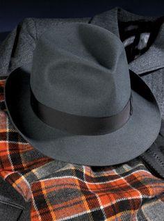 Ben Silver Soft Fur Felt Trilby Style Hat in Flannel