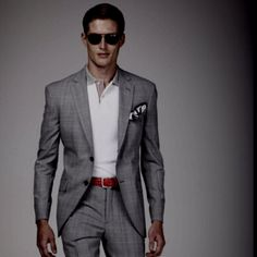 Great way to dress down a suit!