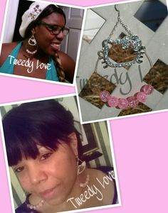 Beautiful Customer(at the bottom) & Her Sister (at the Top) are Wearing Hello Kitty Hoop Earrings beaded with pink crackle glass beads
