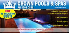 There are different types of cleaning and maintenance techniques exist that you can use for your swimming pools. But it is highly recommended to hire a professional Pool Maintenance Melbourne service provider to get high quality cleaning services.