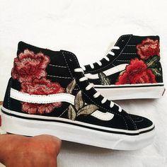 vans schoenen met rozen