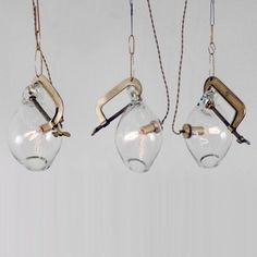 Clamp Pendant by Lindsey Adelman . #lighting #decorative #handblownglass #clamp #creative #installations