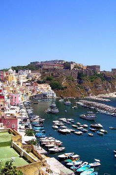 Corricella in Procida Island, Province of Naples, Campania region Italy