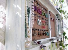 Jewelry Organizer Wall Display Vase Shelf Message by datedbydesign, $108.00.  ABSOLUTELY LOVE THIS IDEA!