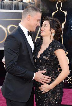 2013 Oscars- Channing Tatum and Jenna Dewan-Tatum.... seriously cutest couple