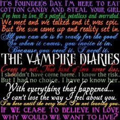 Vampire Diaries Quotes  TVD!! THE VAMPIRE DIARIES!! <3 <3 <3