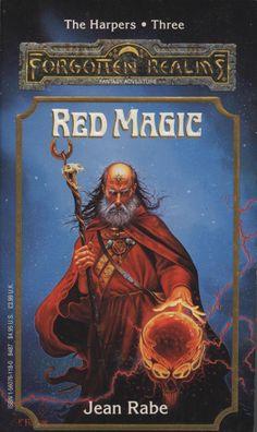 Jeff Easley, por Fred Fields. A mesma imagem seria usada no Deck of Wizard Spells (sem a tatuagem) e em uma carta de Spellfire (espelhada).