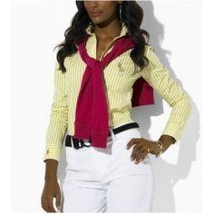 Ralph Lauren Shirt Femme jaune