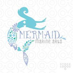 mermaid logo by NancyCarterDesign