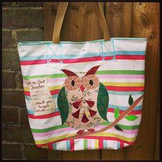 Appliquéd hand made bag