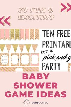 For maximum fun I recommend no more than four games per shower so that momma-to-be can have time to open her wonderful gifts. Be sure to check out our list of 30 Best Baby Shower Games. #babyjourney #babyshowergameideas #babyshower #gameideas Fun Baby Shower Games, Baby Shower Parties, Play Doh Baby, Baby Jeopardy, Baby Word Scramble, Baby Prediction, Baby Words, Baby Bottles, Funny Facts