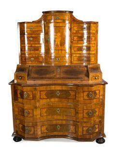 A German Parquetry Secretary Desk | Palm Beach Spring Auction | April 8,  2016 In. Barock MöbelAntike MöbelFeine ...