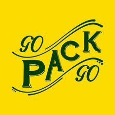 GO PACK GO Green Bay Packers Custom Screen by NeedATeeShirt, $14.99