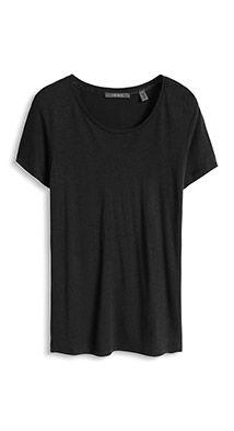 Ylellinen T-paita, silkkiä, pyöreä pääntie