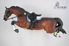 Model Horse Black English Close Contact All Purpose Saddle Cross Country