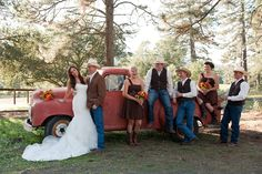 Red and Brown  Rustic Country Western Wedding