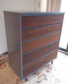 Refinishing and Painting a Dresser. Great DIY post.