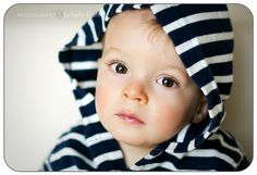 Beautiful baby...oh yeah, in stripes!  =)