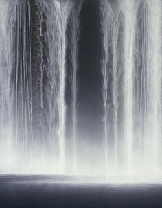 hiroshisenju.com    Hiroshi Senju. Waterfall 2009 Natural pigments on Japanese mulberry paper. 116.7 x 90.9cm
