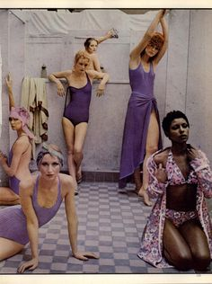 DEBORAH TURBEVILLE Vogue Editorial There's More to a Bathing Suit Than Meets The Eye, May 1975 Shot #3