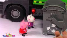 Videos de peppa pig en español Cap1 - Peppa Pig Aprende a Reciclar Peppa pig youtube ToysForKidsHD